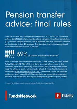 Advising on pension transfers - a summary of the FCA's new guidance and proposals